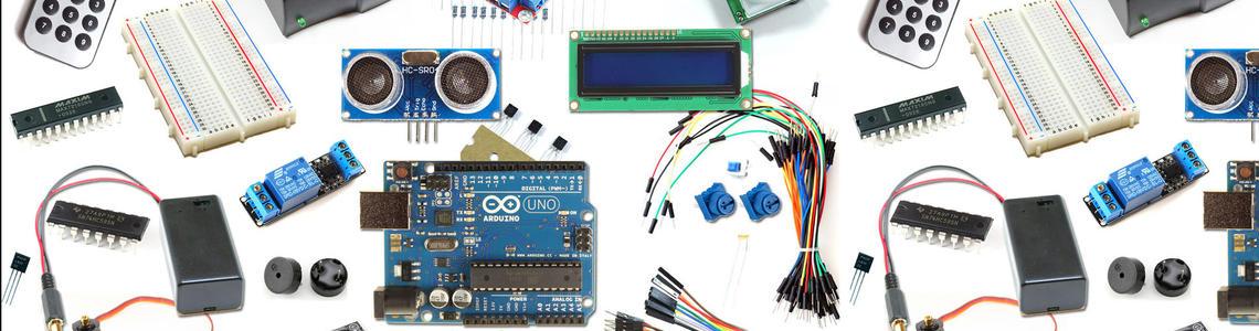 Berbagai komponen elektronika, robotika, dan embedded system