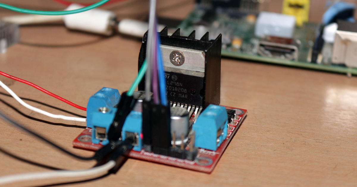 Interfacing DC Motor Driver L298N Raspberry Pi