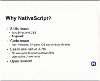 Mengapa menggunakan NativeScript.